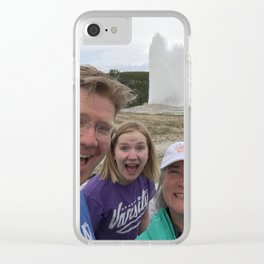Old Faithful Selfie Clear iPhone Case