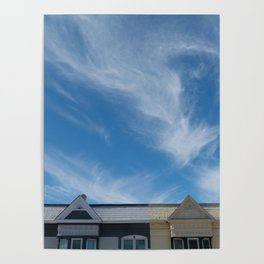 feather clouds Poster
