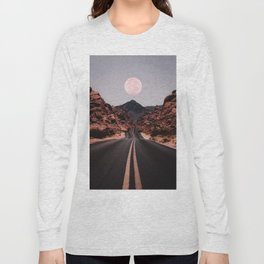 Road Red Moon Long Sleeve T-shirt