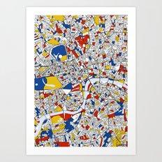 London Mondrian Art Print