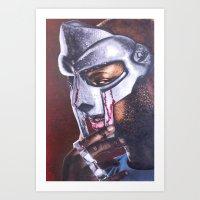 mf doom Art Prints featuring MF DOOM by Ray Mandal