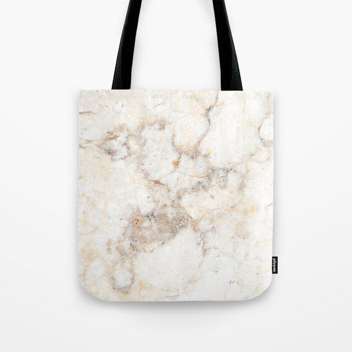 Marble Natural Stone Grey Veining Quartz Tote Bag