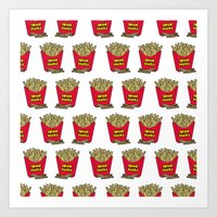french fries Art Prints featuring French Fries by Mobii