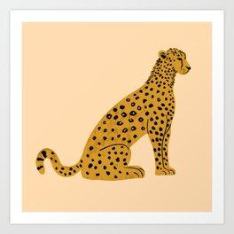 Sitting Leopard, Leopard Print, Leopard Art, Leopard Drawing, Leopard Illustration Art Print