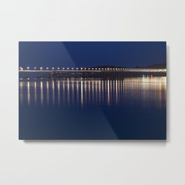 The River Tay at night Dundee Metal Print