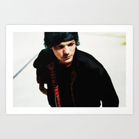 louis tomlinson Art Prints featuring Louis Tomlinson by Becca / But-Like-How