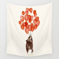 balloons Wall Tapestries featuring Almost take off by Picomodi
