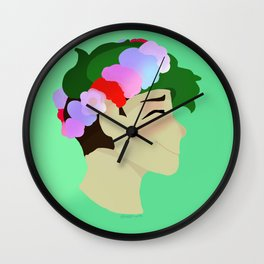 Flower Sean Wall Clock