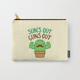 Sun's Out Guns Out Macho Cactus Carry-All Pouch