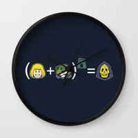 math Wall Clocks featuring He-Math by Mike Handy Art