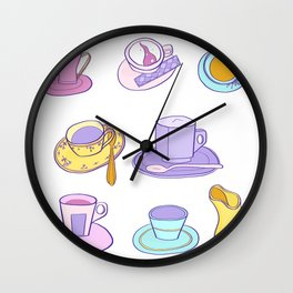 Coffee Time Wall Clock