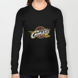Men's Cavaliers Full Primary Logo Long Sleeve Tee Basketball T-Shirts Long Sleeve T-shirt