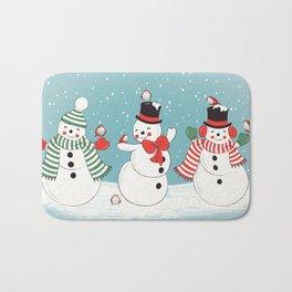 Snowman Winter Wonderland Bath Mat