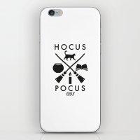 hocus pocus iPhone & iPod Skins featuring Hipster Hocus Pocus by Designed4dis