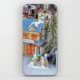 Miniature christmas village iPhone Skin