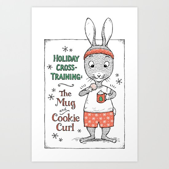 Holiday Curls Art Print