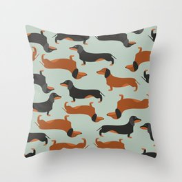 Dachshund, Taksa, Teckel, Weenie dog Throw Pillow