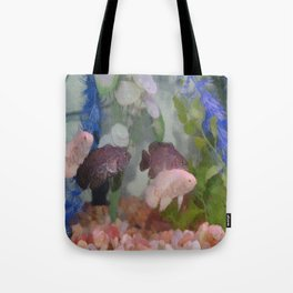 Four Oscars swimming in an aquarium (Painted) Tote Bag