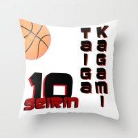 kuroko Throw Pillows featuring Kagami taiga by Selis Starlight