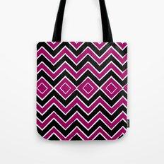 Pink Black Tribal Chevron Tote Bag