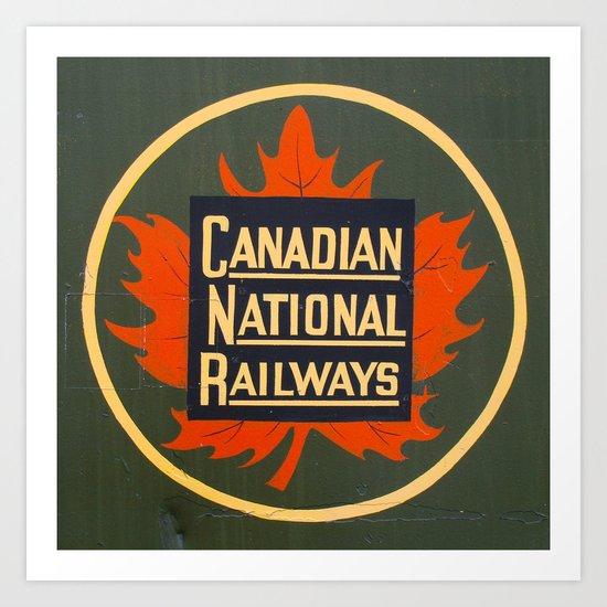 Canadian National Railways Art Print