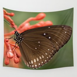 Butterfly On A Flower Wall Tapestry