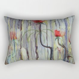 Red Poppies - View of the World Creation of the World No. IX by Mikalojus Konstantinas Ciurlionis Rectangular Pillow