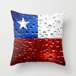 Flag of Chile - Raindrops Throw Pillow