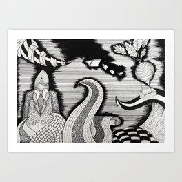 Mi Mente Art Print