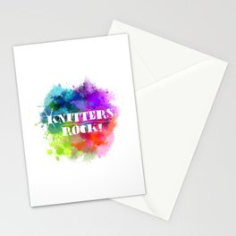 Knitters Rock! Stationery Cards
