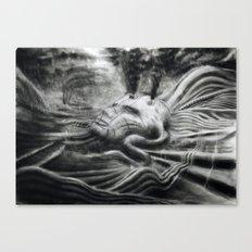Sarcophagus 1 (sacophagus amongst the wastes) Canvas Print