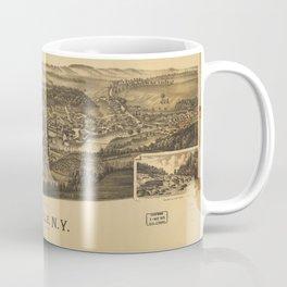 Aerial View of Dolgeville, New York (1890) Coffee Mug