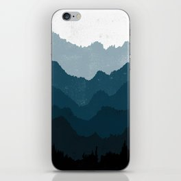 Mists No. 6 - Ombre Blue Ridge Mountains Art Print iPhone Skin