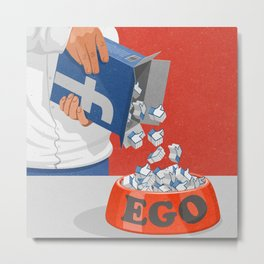 Give your ego some likes Metal Print