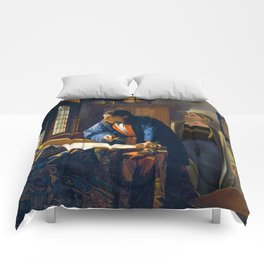 The Doctor and Vermeer's Geographer Comforters