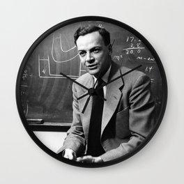 Richard Feynman Wall Clock