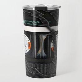 Retro classic vintage Black cassette tape Travel Mug