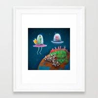 aliens Framed Art Prints featuring aliens by Azbeen