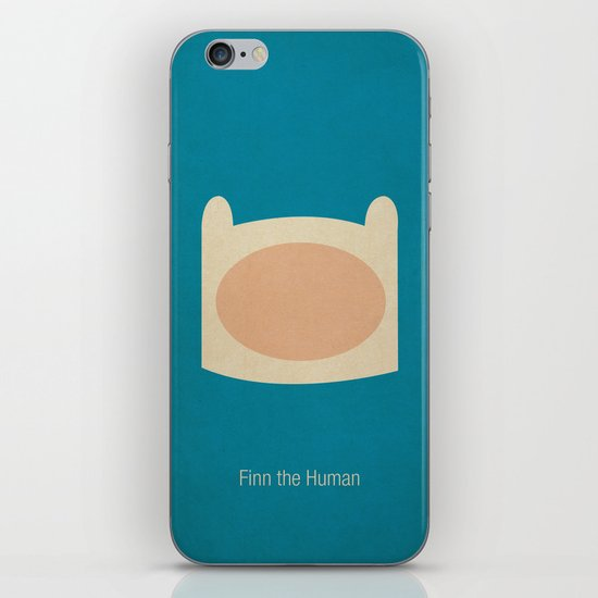 Minimalist Adventure Time Finn iPhone & iPod Skin