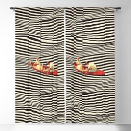 Illusionary Boat Ride 2 Blackout Curtain