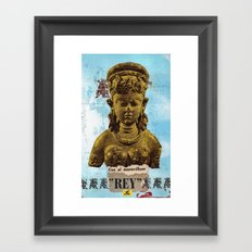El Maravilloso Rey Framed Art Print