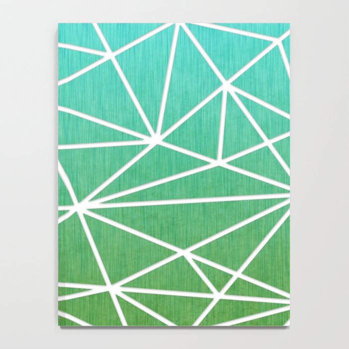 Abstract geometric | green & turquoise Notebook