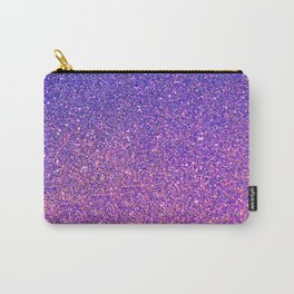 Navy Blue Pink Sparkles Carry-All Pouch