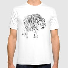 Mister Wolf MEDIUM Mens Fitted Tee White