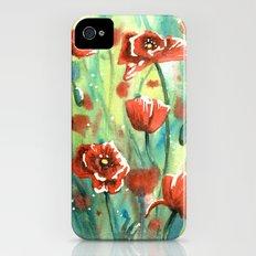 Poppies Slim Case iPhone (4, 4s)