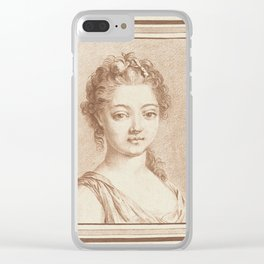 Bust of a young girl, Louis Marin Bonnet, 1757 - 1793 Clear iPhone Case
