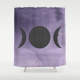 Triple Moon Goddess Shower Curtain
