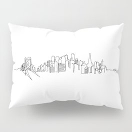 San Francisco Skyline Drawing Pillow Sham