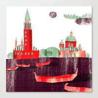 venice Canvas Prints featuring Venice by Claudia Voglhuber