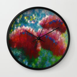 Contemporary Floral Abstract Wall Clock